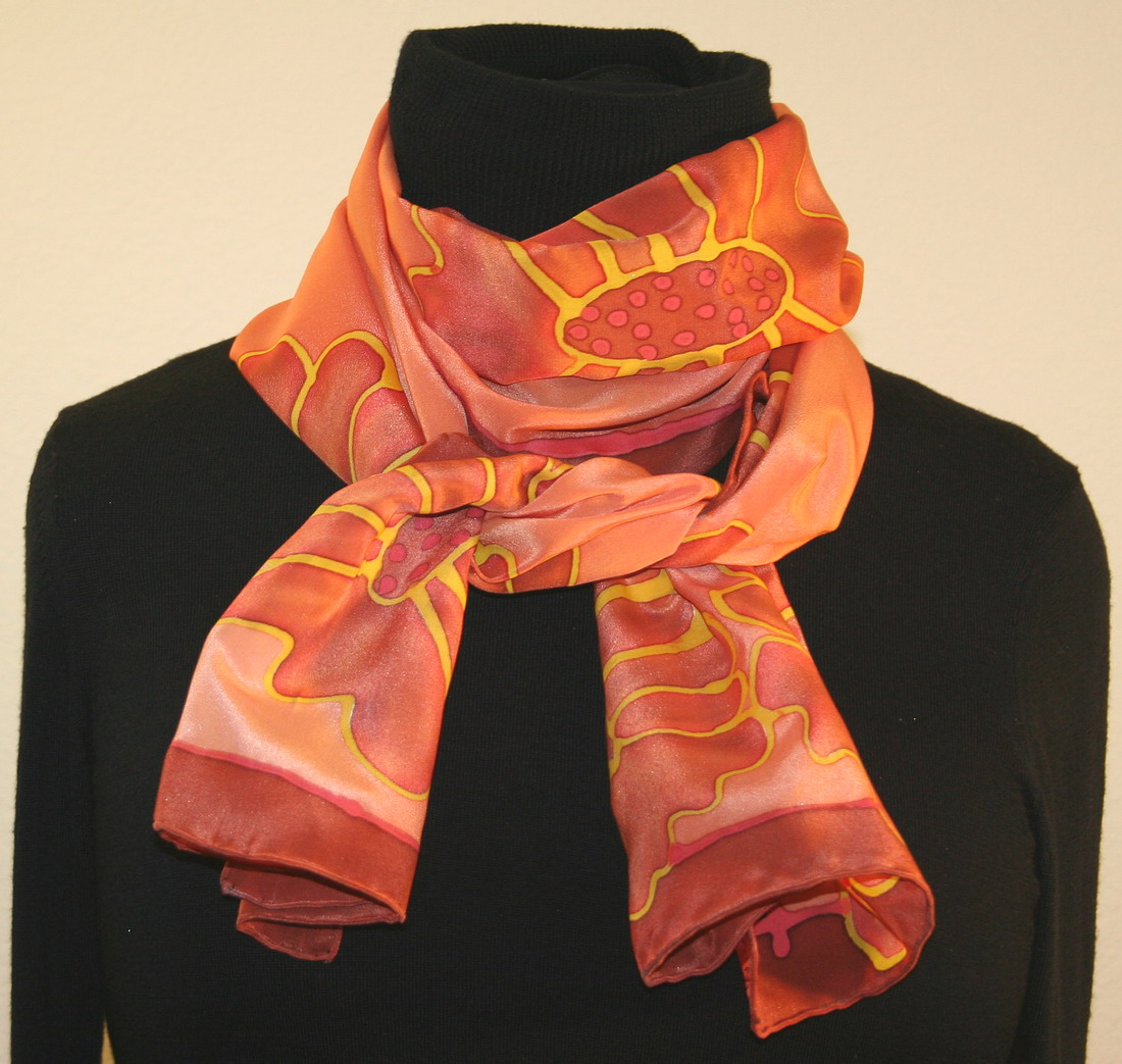 featured silk scarves and accessories and brown