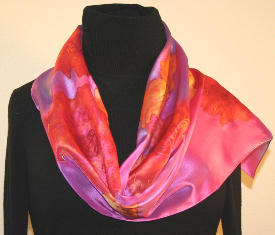 featured silk scarves and accessories pink and light