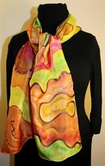 Multicolored Silk Shawl in Earth Colors