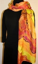 Multicolored Silk Shawl in Earth Colors - photo 1
