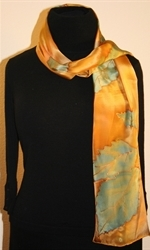 Forest Colors Hand Painted Silk Scarf - photo 3