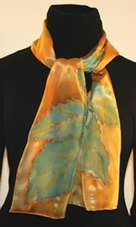 Forest Colors Hand Painted Silk Scarf - photo 2