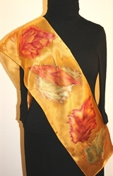 Hand Painted Giveaway Silk Scarf for August 2010 - photo 4