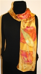 Hand Painted Giveaway Silk Scarf for August 2010