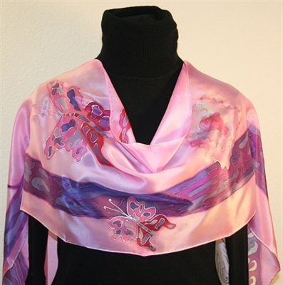Fairy Tale Hand Painted Silk Scarf