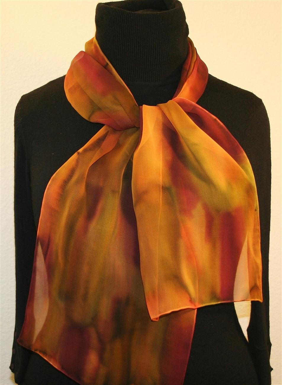 buy painted silk scarves