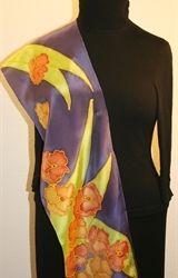 Hand Painted Giveaway Silk Scarf for September 2010 - photo 4