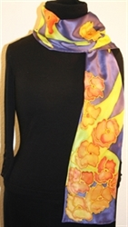 Hand Painted Giveaway Silk Scarf for September 2010