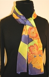 Hand Painted Giveaway Silk Scarf for September 2010 - photo 1