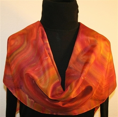 Indian Spices Hand Painted Silk Scarf