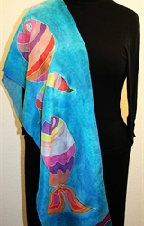 Hand Painted Giveaway Silk Scarf for October 2010 - photo 4