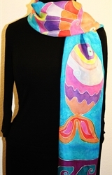Hand Painted Giveaway Silk Scarf for October 2010 - photo 3