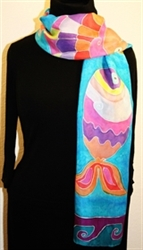 Hand Painted Giveaway Silk Scarf for October 2010