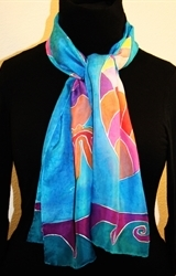 Hand Painted Giveaway Silk Scarf for October 2010 - photo 2