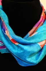 Hand Painted Giveaway Silk Scarf for October 2010 - photo 1
