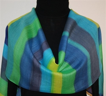 River Walk Silk-Wool Hand Painted Scarf