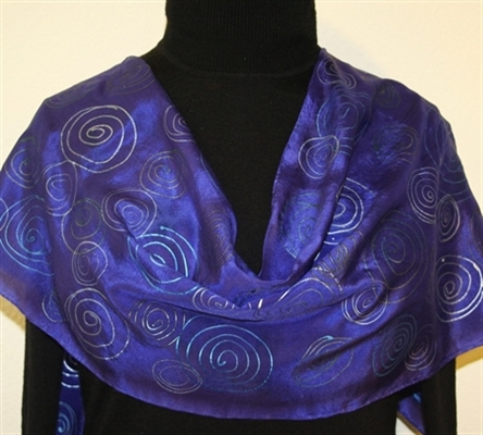 Hand Painted Giveaway Silk Scarf for December 2010