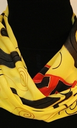 Yellow and Black Silk Scarf 3