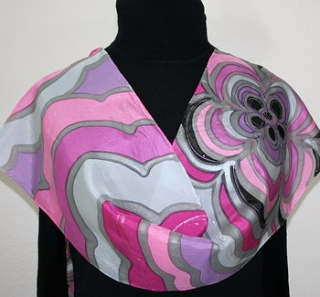 Hand Painted Giveaway Silk Scarf for April 2011