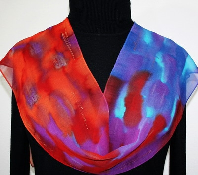 Hand Painted Giveaway Silk Scarf for June 2011