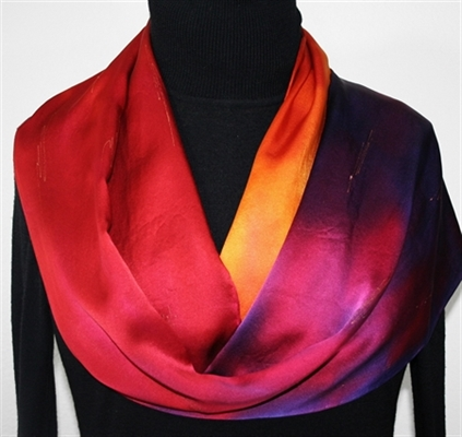 Hand Painted Silk Scarf Giveaway - Celebrating 600 FB Fans