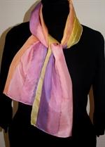Orange-and-Purple Stripes Silk Scarf