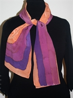 Brown-and-Purple Stripes Silk Scarf