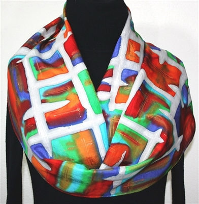 Hand Painted Silk Scarf Giveaway - Celebrating 1000 FB Fans