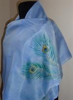 Peacock Blue Silk Shawl
