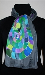 The Music of Colors Silk Scarf in Gray - photo 3