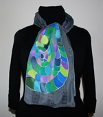 The Music of Colors Silk Scarf in Gray