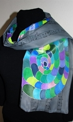 The Music of Colors Silk Scarf in Gray - photo 2