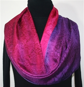 Pink, Purple, Berry Hand Painted Silk Scarf Autumn Dusk. Size 11x60. Silk Scarves Colorado. Bridesmaid Gift.