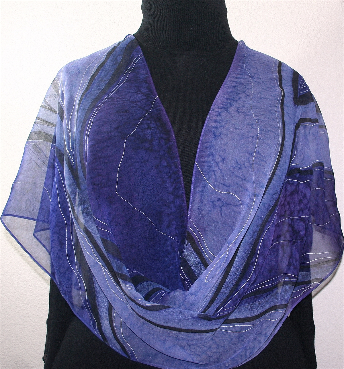 silk scarves shop purple lavender painted