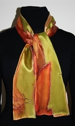 Silk Scarf with Landscape with Red Cliffs