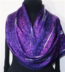 Purple Silk Scarf Handpainted. Handmade Silk Shawl PURPLE FIREWORKS, by Silk Scarves Colorado. Large 14x72. Birthday Gift, Bridesmaid Gift, Anniversar