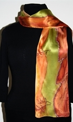 Silk Scarf with Landscape with Red Cliffs - photo 2