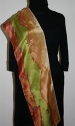 Silk Scarf with Landscape with Red Cliffs - photo 3