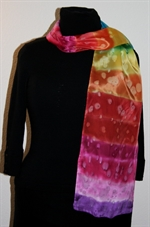 Rainbow-Colored Silk Scarf