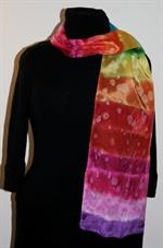 Rainbow-Colored Silk Scarf