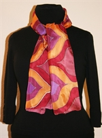 Silk Scarf with Moroccan-Inspired Shapes