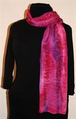 Multicolored Silk Scarf in Punk and Purple